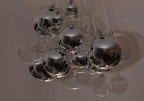 mit 12 Klarglas-kugeln und 12 Kugeln Silber Glanz